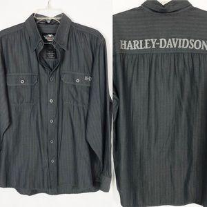 HARLEY-DAVIDSON Button Down Large Shirt